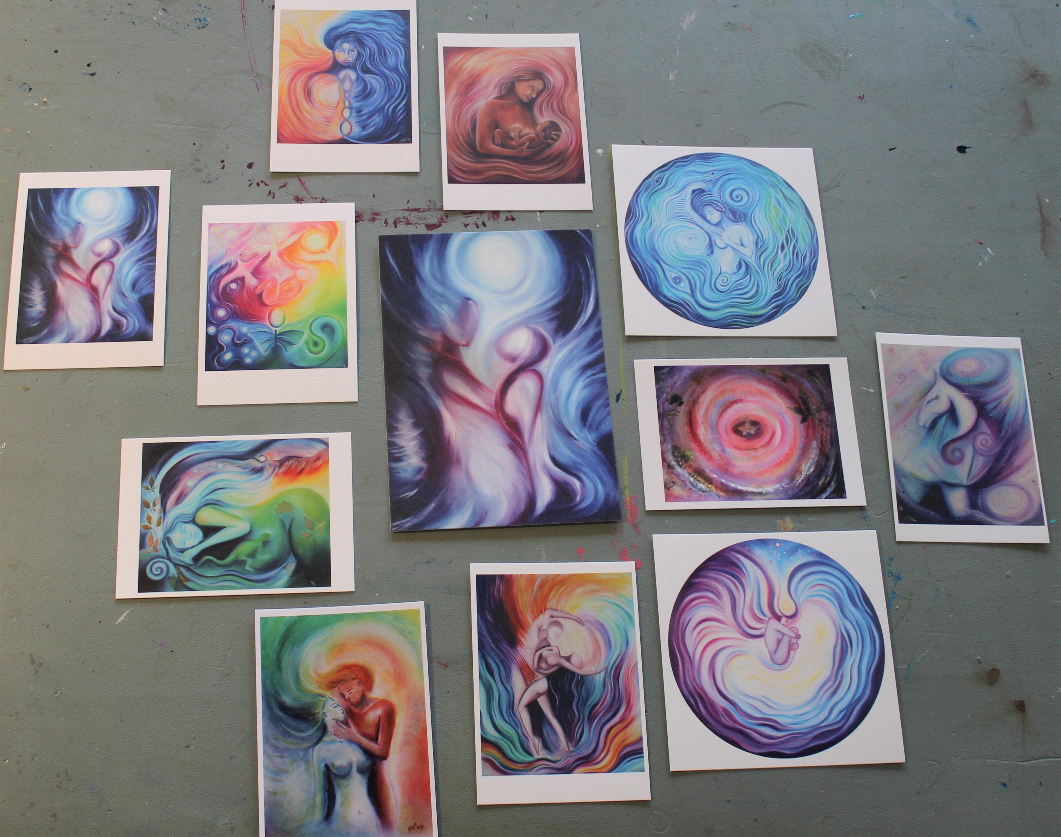 Collectie kunstkaarten