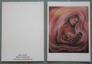 """Kunstkaart A6 """"Birth"""" A6 Natuurpapier"""
