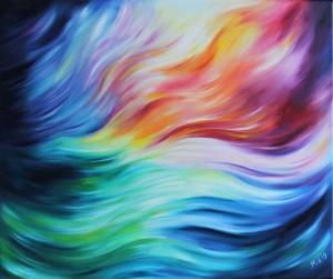 Origineel schilderij Energy in Motion